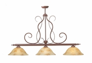 Meyda Tiffany 112616 Alabaster Swirl 3 Lamp 48 Inch Wide Traditional Island Lighting
