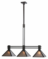 Meyda Tiffany 113066 Soffe Mission 3 Lamp 44 Inch Wide Silver Mica Kitchen Island Light