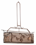 Meyda Tiffany 115187 Lone Pine Oblong Rustic Style 44 Inch Wide Island Light