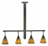 Meyda Tiffany 110091 Prairie Corn 4 Lamp Timeless Bronze Tiffany Island Lighting