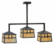 Meyda Tiffany 110914 Stillwater Double Cross Mission 39 Inch Wide Island Light Fixture