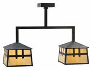 Meyda Tiffany 110940 Stillwater Double Cross Mission 2 Lamp 24 Inch Wide Kitchen Island Lighting