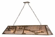 Meyda Tiffany 111946 Golf Oblong Antique Copper Finish 60 Inch Wide Island Light Fixture