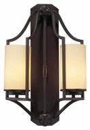 ELK 31314/2 Linden 2 Lamp 20 Inch Tall Oiled Bronze Wall Lighting Fixture