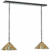 Meyda Tiffany 109315 Jadestone Delta 2 Lamp Timeless Bronze Island Light Fixture