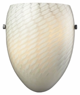 ELK 11316/1WS-G Night Glow Polished Chrome Finish White Swirl Pocket Wall Sconce Light Fixture