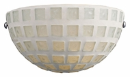 ELK 1320/1WHM Fused Glass Mosaic Transitional 6 Inch Tall White Mosaic Wall Sconce Light