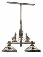 Meyda Tiffany 100072 Burgundy Pine Branch 2 Lamp 50 Inch Wide Island Lighting Fixture