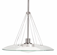 Kichler 2667NI Structures  Contemporary Inverted Halogen Pendant Light in Brushed Nickel