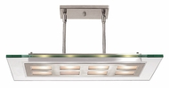 Access 50108-BS Zeus 24 inches wide Pendant Light in Brushed Steel