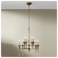 Feiss F26108SLPOBZ Amelia 8-light Silver Leaf Chandelier
