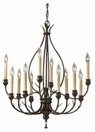 Feiss F261512HTBZ Emory 12-Light Chandelier