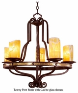 Kalco 6099 Durango Tawny Port 5-Light Rustic Chandelier