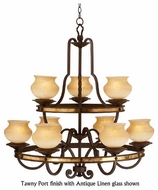 Kalco 6109 Durango 9-Light Rustic Chandelier