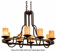 Kalco 6098 Durango Tawny Port 8-Light Rustic Oval Chandelier