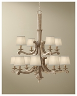 Feiss F268284MAW Blaire Rustic 12-light Two-tier Chandelier