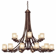 Kichler 1873OZ Hendrik 18-Lamp Chandelier in Olde Bronze