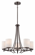 Quoizel PN5005PY Parkston Powder Grey 5 Lamp Transitional Chandelier Light