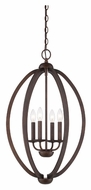 Quoizel QF1402CMU 16 Inch Diameter Museum Bronze Mini Chandelier Light Fixture