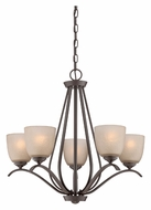 Quoizel RL5005WT Radcliff 5 Lamp Western Bronze Transitional Hanging Chandelier Light