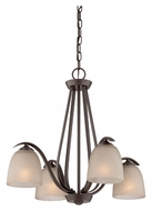 Quoizel RL5104WT Radcliff Transitional Western Bronze Finish 5 Lamp Downlight Chandelier