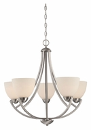 Quoizel TCR5005BN Tucker 5 Lamp 26 Inch Diameter Brushed Nickel Lighting Chandelier