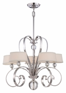 Quoizel UPMM5005IS Uptown Madison Manor 5 Lamp Imperial Silver 29 Inch Diameter Chandelier Light