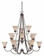 Quoizel ALZ5015PN Aliza 15 Lamp Palladian Bronze Chandelier Lighting Fixture