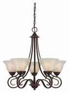 Quoizel LLN5005PN Lillian 25 Inch Diameter 5 Lamp Transitional Chandelier