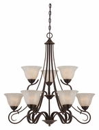 Quoizel LLN5009PN Lillian Palladian Bronze 9 Light Chandelier Light Fixture