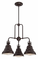 Quoizel EVE5103PN Eastvale 3 Lamp Downlight Palladian Bronze Ceiling Chandelier