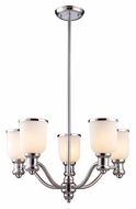 Landmark 66153-5 Brooksdale Transitional Style Polished Chrome 5 Lamp Ceiling Chandelier