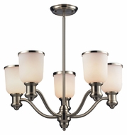 Landmark 66163-5 Brooksdale 5 Lamp 25 Inch Diameter Satin Nickel Hanging Chandelier