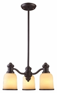 Landmark 66172-3 Brooksdale Oiled Bronze 3 Lamp Transitional Downlight Chandelier