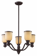 Landmark 66173-5 Brooksdale 25 Inch Diameter Oiled Bronze Chandelier Lighting Fixture