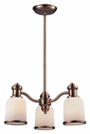 Landmark 66182-3 Brooksdale Antique Copper 3 Lamp Downlight Chandelier Lighting