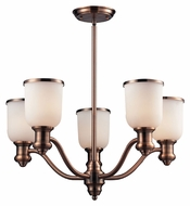 Landmark 66183-5 Brooksdale 25 Inch Diameter 5 Lamp Antique Copper Chandelier Lamp