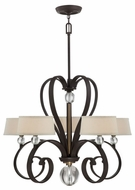 Quoizel UPMM5005WT Uptown Madison Manor by Sergio Orozco 5 Light Transitional Chandelier With Shades