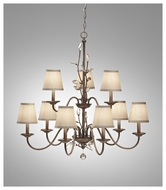 Feiss F269663ARS Priscilla Large 9-light Chandelier