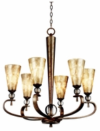 Kichler 42471SRM Roma Notte 6-light Chandelier