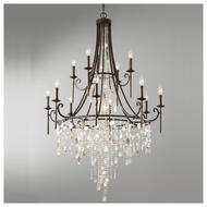 Feiss F266184HTBZ Cascade 12-light Chandelier Light