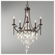 Feiss F26635HTBZ Cascade 5-light Chandelier Light