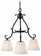 Feiss F25363BK Peyton 3-Light Chandelier