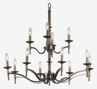 Kenroy Home 90069OB Hastings 12-Light Chandelier