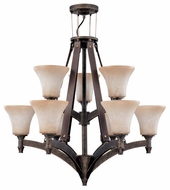 Nuvo 602442 Viceroy ES 9-Lamp Chandelier