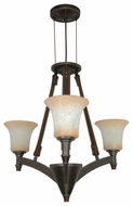 Nuvo 602445 Viceroy ES 3-Lamp Chandelier