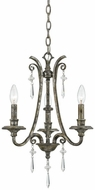 Quoizel KD5003MM Kendra Three Light Mini Chandelier