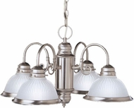 Kichler 1648NI Cape May Brushed Nickel 4-Light Colonial Chandelier