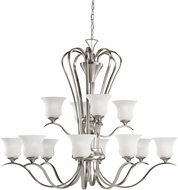 Kichler 2087NI Wedgeport Brushed Nickel 12-Light, 2-Tier Chandelier