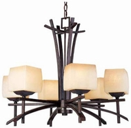 Maxim 10985WSRC Asianna 6 Light Wooden Chandelier